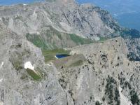 Dragon lake from gamila peak in Vikos Aoos Geopark