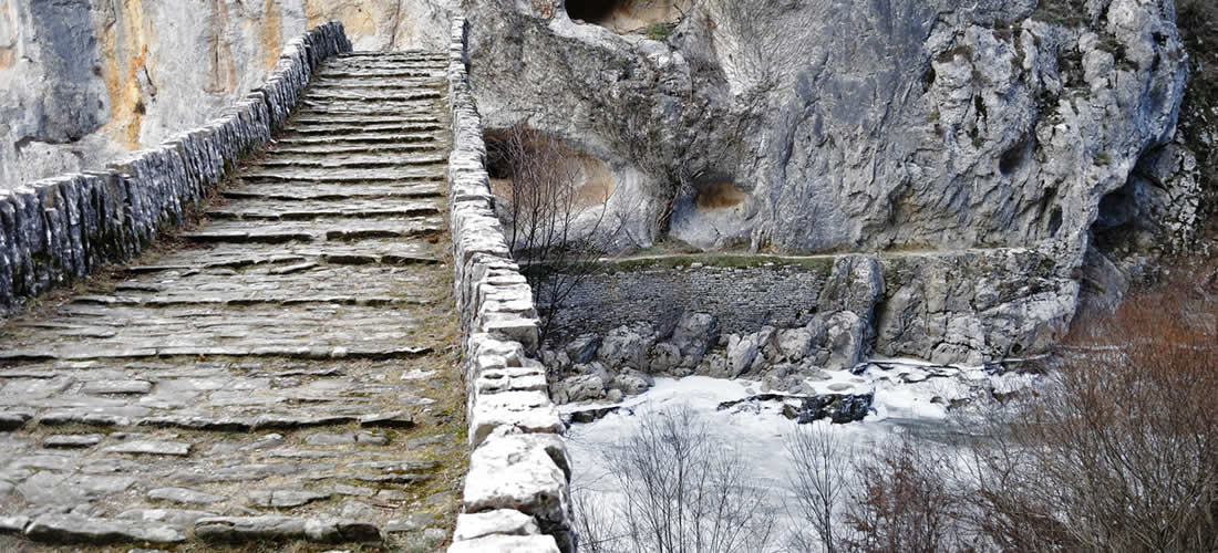 Theoktista, traditional stone villages and stone bridges