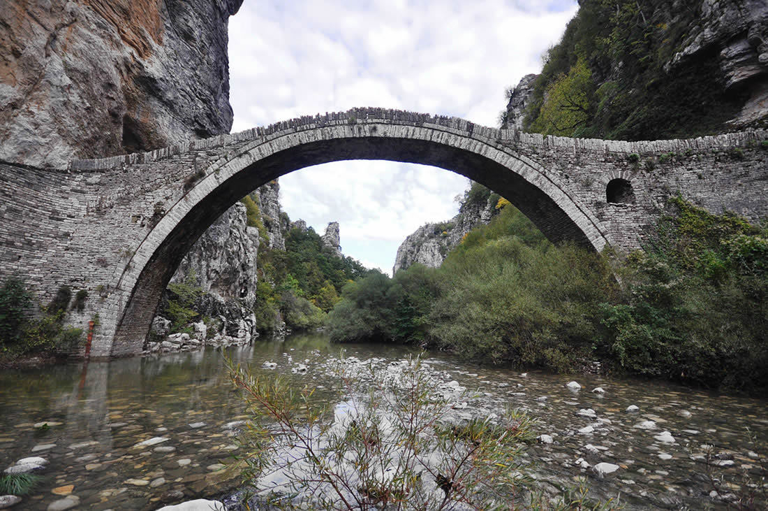 Habitants infrastructures, Kokkoris Single Arch Stone Bridge in Zagori