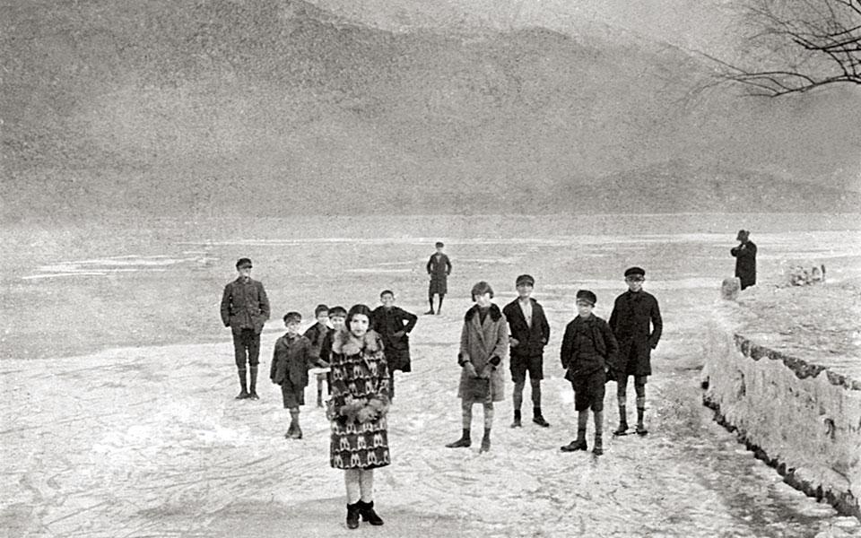 Ioannina lake, February 1929.