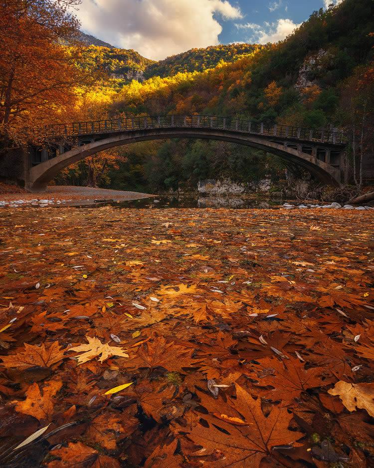 The bridge connecting Aristi and Paigo villages crossing Voidomatis river | Alexandros Malapetsas